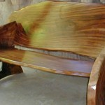 Exotic Wood Bench, made from local craftmens