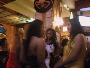 Prostitutes from different countries gather in the Del Rey, Costa Rica's most popular prostitution venue  - photo by Keely Kernan/Freelancer