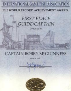 Bobby McGuinness – IGFA World's Top Captain in 2010