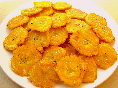 Cooked Plaintains- Fried, Chips and Picadillo