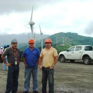 Workers Installing Wind Energy in Costa Rica