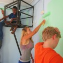 Painting the learning center in Limonj