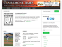 screenshot of The Clairemont Times Newspaper - Community News