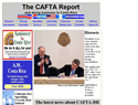 screenshot of The CAFTA Report - Central Amercian Free Trade News