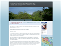 screenshot of Costa Rican Conservation Network Blog