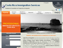 screenshot of Costa Rica Immigration Services