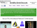 screenshot of DentaRica Dental Discounts
