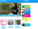 screenshot ofUNICEF - Costa Rica