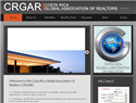 screenshot of Costa Rica Global Association of Realtors - CRGAR