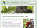 screenshot of The Scarlet Macaw Restoration Project of Tiskita