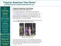 screenshot of Tropical American Tree Farms - Growing Tropical Hardwoods