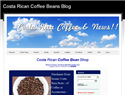 screenshot of Costa Rican Coffee Bean Shop and Blog