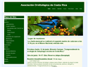 screenshot of Ornithological Association of Costa Rica