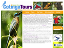 screenshot of Cotinga Tours - Birding, Nature and Education
