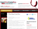 screenshot of ExpoVino Costa Rica