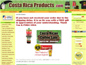 screenshot of Costa Rica Products