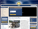 screenshot of San Jose, Costa Rica Official Website. Info Directory